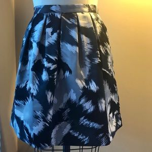 Michael Kors abstract brushstroke pleated skirt M